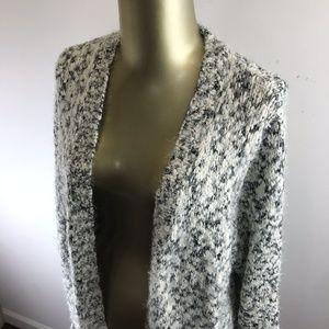 F&F Long Sleeve Open Style White & Black Cardigan